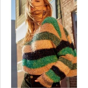 Urban outfitters fuzzy glitter sweater